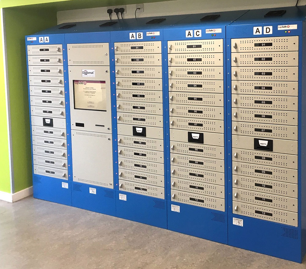 Borders College Charging Lockers in Library