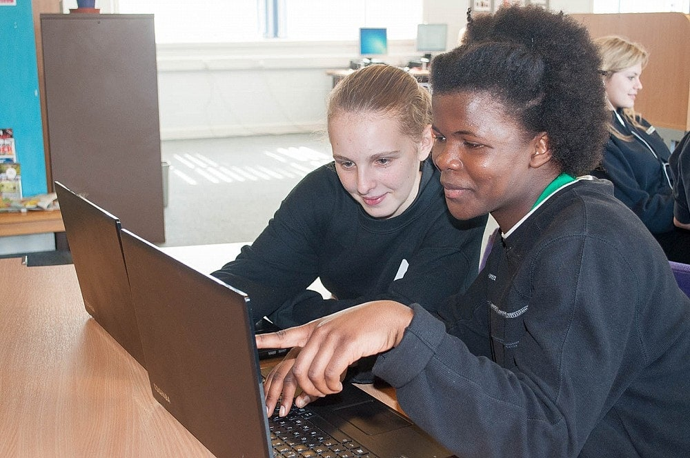 Easton & Otley College - Students Using Laptop