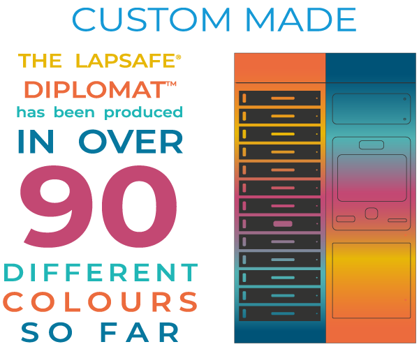 The LapSafe Diplomat has been produced in over 90 different colours